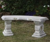 Japanese Design Stone Bench - Large Garden Benches