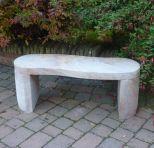 Large Garden Benches - York Rainbow Sandstone Stone Bench