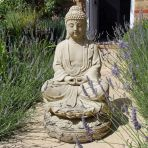 Large Garden Sculpture - Meditation Buddha Stone Statue