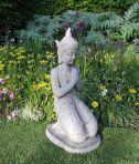 Large Garden Sculpture - Praying Thai Stone Buddha Statue