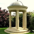 Large Garden Temple - Stone Columns & Lead Dome Roof
