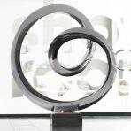 Large Orbital Metal Sculpture - Indoor Contemporary Art Statue