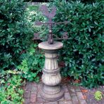 Large Pedestal Stone Weathervane - Garden Weather Vane