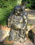 Laughing Buddha Bronze Metal Large Garden Statue
