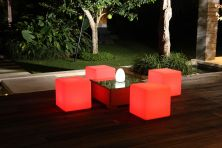 LED Square Seats 40cm - Outdoor & Indoor Furniture Lighting