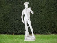Michelangelo David 120cm Garden Sculpture - Large Marble Statue