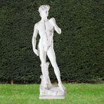 Michelangelo David 65cm Garden Sculpture - Large Marble Statue