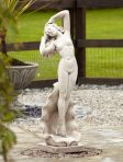 Nude Shell Girl Stone Figurine Sculpture - Large Garden Statue