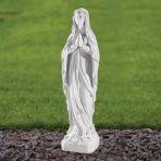 Our Lady of Lourdes 35cm Religious Sculpture - Marble Garden Statue