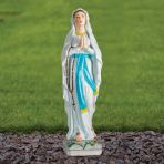 Our Lady of Lourdes 58cm Religious Sculpture - Marble Garden Statue