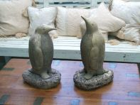 Pair of Penguins Sculpture - Large Garden Ornament