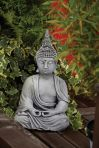 Pearl Hat Thai Stone Buddha Statue - Large Garden Ornament
