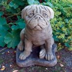 Pug Dog Statue Sculpture - Large Garden Ornament