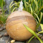 Rainbow Sandstone 60cm Natural Sphere - Garden Water Feature