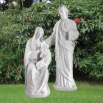 Religious Family 185cm Marble Sculpture - Large Garden Statue