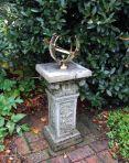 Rocco Armillary Stone Sun Dial - Garden Sundial