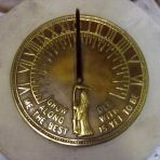 Roman Aged Brass Stone Sun Dial - Garden Sundial