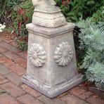 Rose Column Pedestal - Stone Statue Plinth