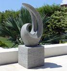 Curvation Modern Art Stone Statue - Large Garden Sculpture