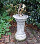 Small Armillary Stone Sun Dial - Garden Sundial