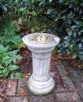 Small Brass Stone Sun Dial - Garden Sundial