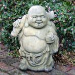 Stone Roaming Buddha Statue - Large Garden Sculpture