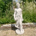 Summer Maiden 84cm Four Seasons White Stone Garden Statue