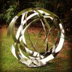 Synergy IV Contemporary Stainless Steel - Large Garden Sculpture