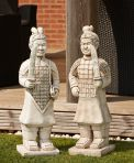 Terracotta Warriors Stone Ornament - Large Garden Statue