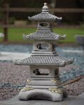 Three Tier Japanese Pagoda Lantern - Large Chinese Garden Ornament