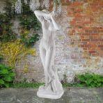 Vergogna 120cm Greek Garden Sculpture - Large Marble Statue