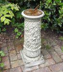 Vine Aged Brass Stone Sun Dial - Garden Sundial