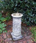 Vine Brass Stone Sun Dial - Garden Sundial
