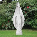 Virgin Mary 118cm Religious Sculpture - Marble Garden Statue